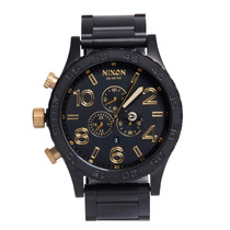 Relógio Masculino Nixon 51-30 Chrono Black Gold