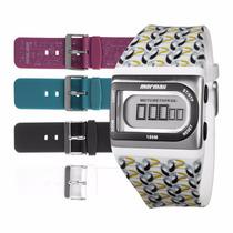 Kit Relógio Mormaii Troca Pulseiras Fzk/8p Garantia E Nf