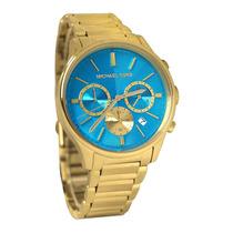 Relógio Michael Kors Mk5910 Gold Azul Turquesa