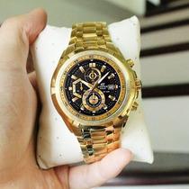 Relógio Casio Dourado Original Edifice Ef539 Com Caixa
