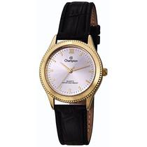 Relógio Champion Feminino Couro Prova Dágua Cn28115b