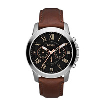 Relógio Masculino Fossil Grant Chronograph Ffs4813/z Couro