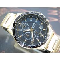 Relógio Orient Cronógrafo Sport Aço Plaque Ouro Mgssc013