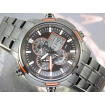 Relógio Orient Cronógrafo Alarm Analógico E Digital Mpssa004