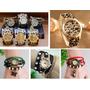 Relógio De Pulso Feminino Bracelete Couro - Diversos Modelos