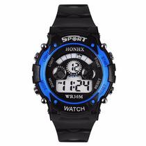 Relógio Masculino Sport Preto E Azul! Importado!