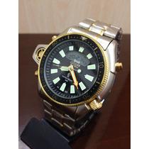 Relógio Citizen Aqualand Serie Ouro Em Aço
