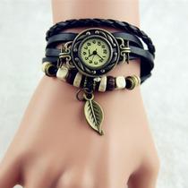 Relógio Feminino Pulseira Vintage Retro Preto