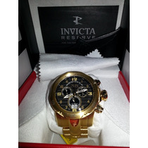 Relógio Invicta Venom Chronograph Black Dial Gold-plated