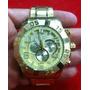 Relógio Original Atlantis Analogico 3361 Aço Dourado A3361