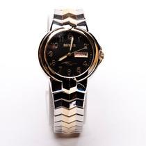 Prata E Relógios De Homem Da Circular Do Ouro
