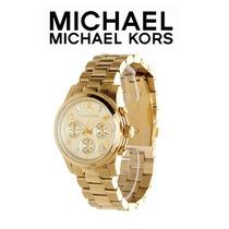 Relógio Dourado Michael Kors Exclusivo Luxo M K Importado