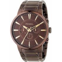 Relógio Fossil Fs4357/z Marrom 2 Anos De Garantia