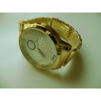 Relógio Masculino Analógico 12 Twelve Dourado Importado