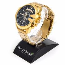 Relógio Diesel 10 Bar Dourado - Garantia (novo)