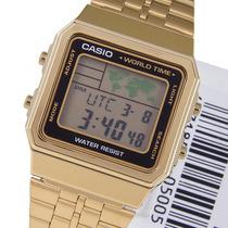 Relógio Casio A500wga 1df Dourado Crono 5alar A500 A168 A158