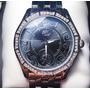 Relógio Marc Ecko United Com Cristais Todo Em Aço Inox Lindo