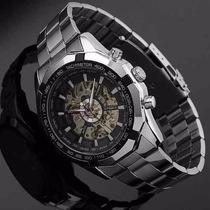 Relógio Automático Masculino Skeleton, Esqueleton, Winner