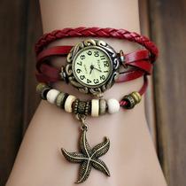 [ Atacado ] 10 Relógios Pingente Pulseira De Couro Bracelete