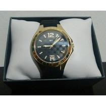 Relógio Feminino Tommy Hilfiger Dourado Com Pulseira Preta