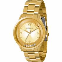 Relógio Lince Dourado Feminino (orient) Lrg4257l Wr 30 M --