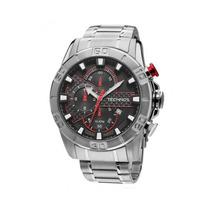 Relógio Maculino Technos Sports Os10ea/1r 47mm Prata
