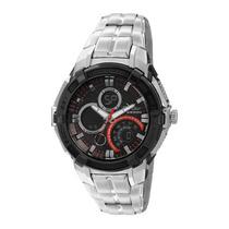 Relógio Masculino Condor Anadigi Co1101aa/8r - Preto E Ve...