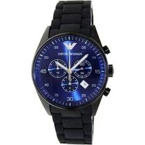 Relógio Emporio Armani Ar5921 Preto C/ Azul A Pronta Entrega