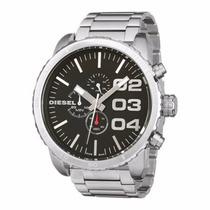 Relógio Diesel Cronógrafo Todo Em Aço Prata - Dz4209 C/ Nota