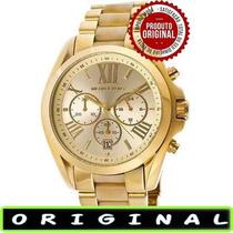 Relógio Michael Kors Mk5722 Gold 44mm Oversized Lançamento !