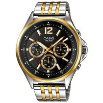 Relógio Masculino Cronógrafo Casio, Aço - Mtp-e303sg-1avdf