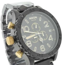 Relogio Nixon Black Gold 51-30 Excelente Qualidade 12 X
