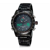 Relógio Militar Naviforce Analógio / Digital / Vidro / Aço