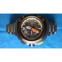 Relógio Citizen Aqualand Meia Lua Titânio Jv0055