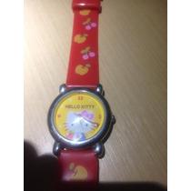 Oferta Relogio Pulso Infantil Hello Kitty Pulseira Vermelha