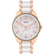 Relógio Orient Ftssm030 B2rb Femin Branco Dourado - Refinado