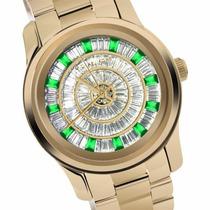 Promoção Relógio Michael Kors Mk5730 Strass Verde C Caixa Mk