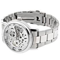 Relógio Semi Automático Masculino - Luxo - Skeleton Metálico