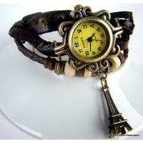 Relógio De Pulso Vintage Feminino Em Couro. Confira! (ltm)