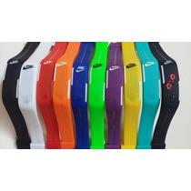 Relógio Pulseira Nike Digital Led Pronta Entrega - Kit C/10