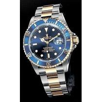 Relogio Azul Misto Submariner Sedex Gratis
