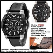Relógio Empório Armani Ar5839 Puls De Borracha Original !