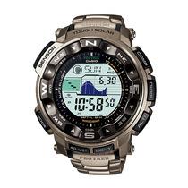 Relógio Casio Protrek Prg-250t-7dr Triple Sensor Titanium