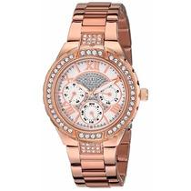 Relógio Feminino Guess U0111l3 - Strass Ouro Rosê Original