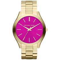 Relógio Michael Kors Mk3264 Dourado Lançamento 2014 Original