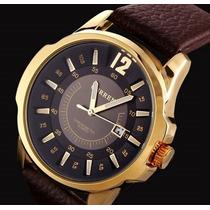 Relógio Curren Masculino Luxo - Pulseira De Couro