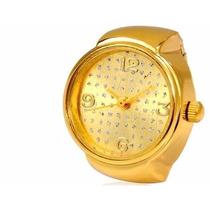 Frete Grátis - Anel Com Relógio.