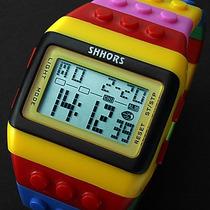 Relógio Colorido Led Noturno. Relógio Super Lindo.
