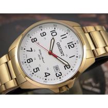 O R I E N T Relógio Orient Calendario Quartzo Plaque Ouro