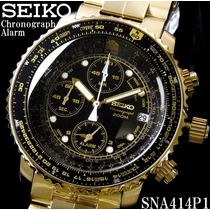 Seiko Flightmaster Chronograph Pilot - Sna414 Frete Grátis!